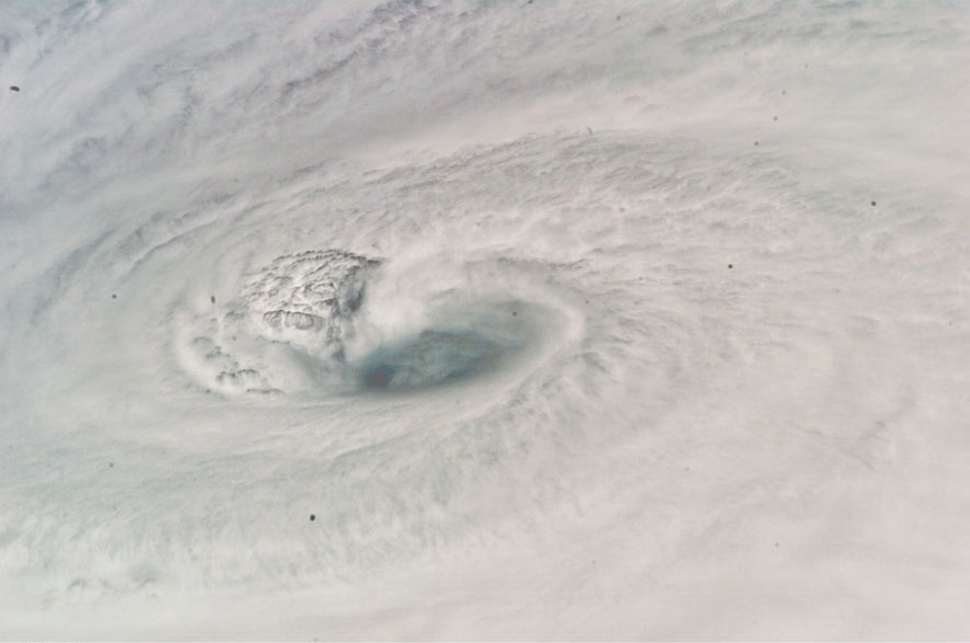 The eye of Hurricane Dean is shown as it moved through the Caribbean. Image Credit: NASA