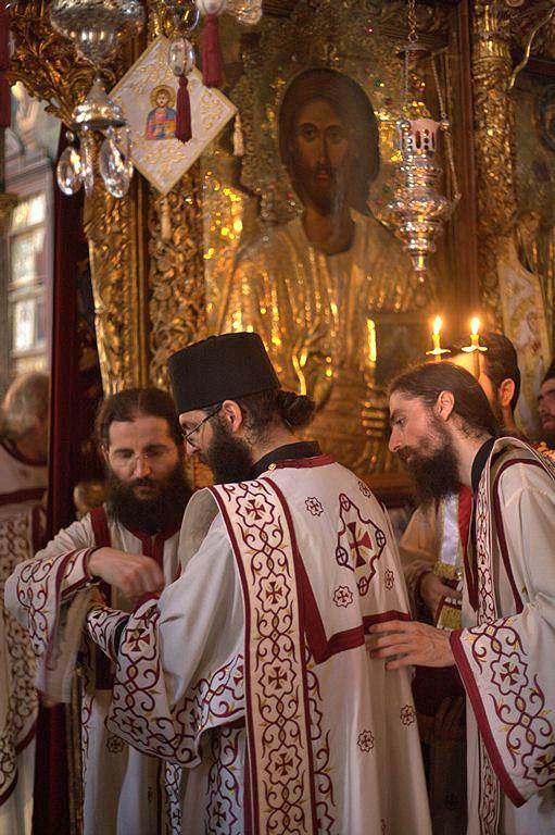 Deacons, Monastery of Vatopedi, 2011