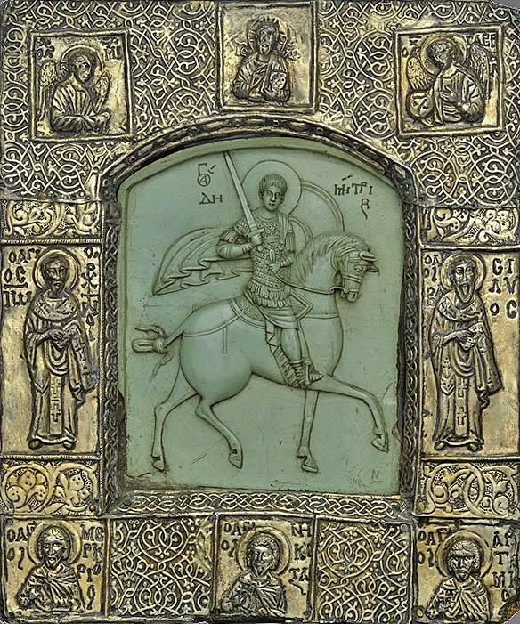 dimitrie al tesalonicului, bizant, sec 13, Kremlin Museum IN