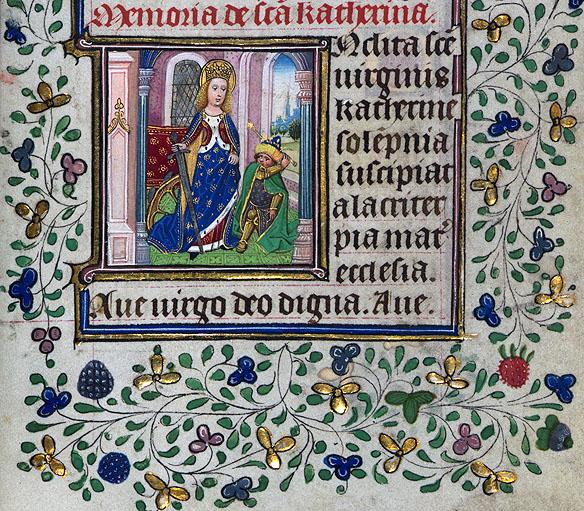 Ecaterina, ilustratie de Ceaslov Olandez, 1425-1450 IN