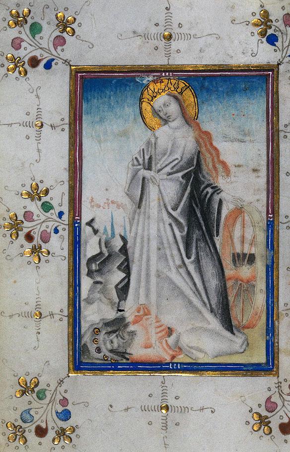 Ecaterina, ilustratie de Ceaslov Olandez, 1440-1460 IN