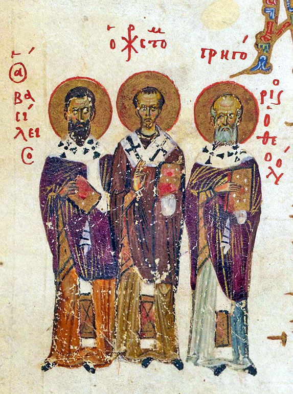3 ierarhi, Constantinople, XI century, MS 19352 Theodore Psalter, London, British Library IN