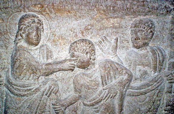 orb, fragment de sarcofag, s 6, Franta, L'abbaye Saint-Victor in