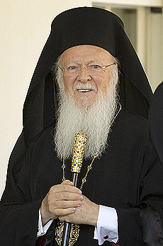 ECUMENICAL PATRIARCH BARTHOLOMEW OF CONSTANTINOPLE PICTURED IN 2009 PHOTO