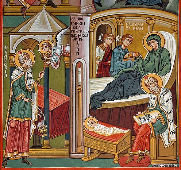 Ioan Botezatorul, Birth of Forerunner