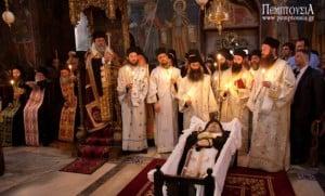 The burial of Abbot Georgios Kapsanis – Gregoriou Monastery, Holy Mountain