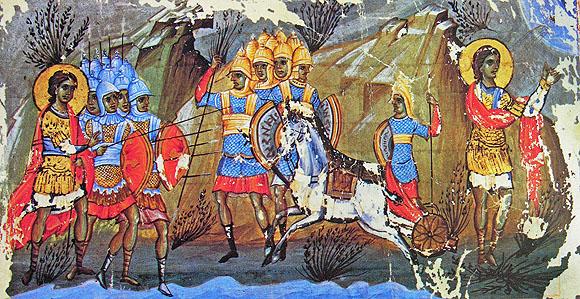 Joshua - Israelis taken prisoner by the Canaanites in water Merom, man Vatp 602, Octoih, s13 IN
