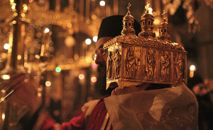 The feast of Saint John Chrysostom at Vatopedi Monastery