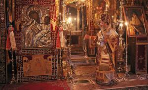 The feast of the icon of Our Lady Theotokos Paramythia at Vatopaidi Monastery
