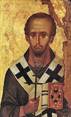 St John Chrysostom, end of the 13th century, from Vatopedi Monastery IN R