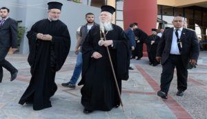 Arrival of His All-Holiness Ecumenical Patriarch Bartholomew to the Orthodox Academy of Crete
