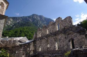 The old monastery of Saint Dionysios on Olympus.