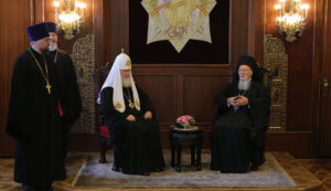 Historic meeting between the Ecumenical Patriarch and the Patriarch of Moscow at Fanari