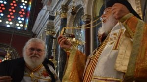 In Tripoli, two Hierarchs celebrate the Divine Liturgy in the presence of the Holy Girdle